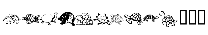 KR Turtles For Julie Font UPPERCASE