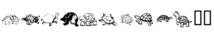 KR Turtles For Julie Font LOWERCASE