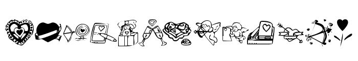 KR Valentine 2003 Font UPPERCASE