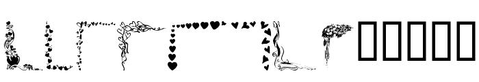 KR Valentine Borders Font LOWERCASE