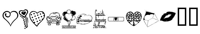 KR Valentine Dings Font UPPERCASE