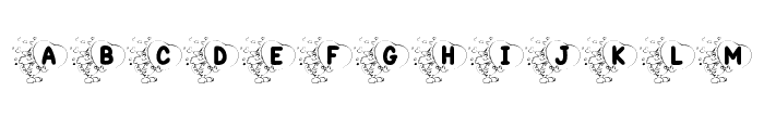 KR Valentine Kat Font LOWERCASE