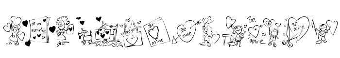 KR Valentine Kids 2006 Font UPPERCASE