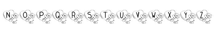 KR Valentine Teddy Font UPPERCASE