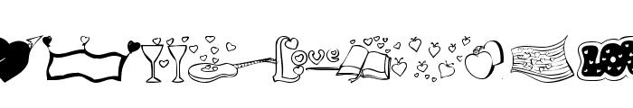 KR Valentines 2006 Five Font UPPERCASE