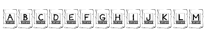 KR Wanted! Font LOWERCASE
