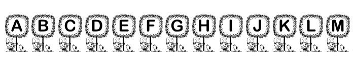 KR Washington Font UPPERCASE