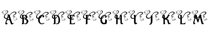 KR Wedding Bells Font UPPERCASE