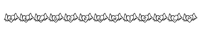 KR Wings of Love Font UPPERCASE