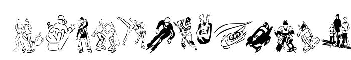 KR Winter Sports Font UPPERCASE