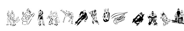 KR Winter Sports Font LOWERCASE