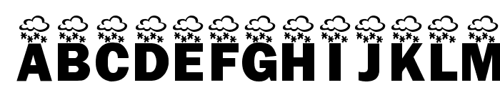 KR Wintry Mix Font UPPERCASE