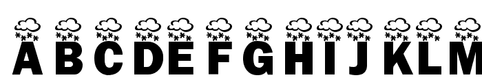 KR Wintry Mix Font LOWERCASE