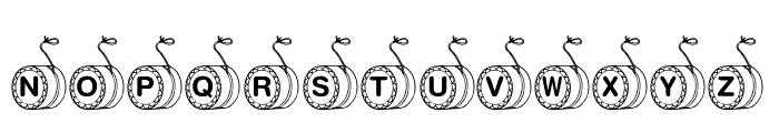 KR YoYo Font UPPERCASE