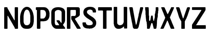 Kraftfahrzeugkennzeichen Font UPPERCASE