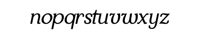Kraskario Italic Font LOWERCASE