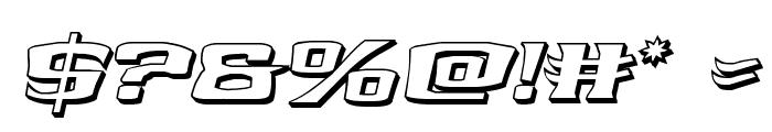 Kreature Kombat 3D Italic Font OTHER CHARS