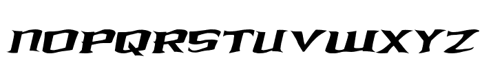 Kreature Kombat Warped Italic Font UPPERCASE