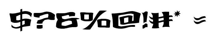 Kreature Kombat Warped Font OTHER CHARS