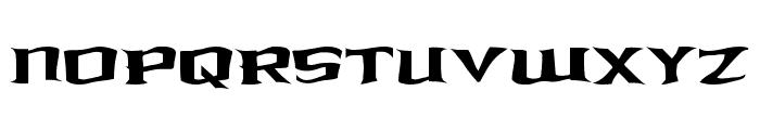 Kreature Kombat Warped Font UPPERCASE