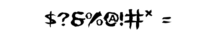 Kreeture Warped Font OTHER CHARS