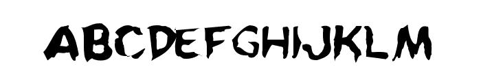 Kreeture Warped Font UPPERCASE