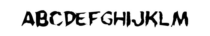 Kreeture Warped Font LOWERCASE