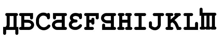 Kremlin Kourier II Bold Font UPPERCASE
