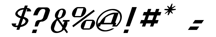 Kremlin Soviet Italic Font OTHER CHARS