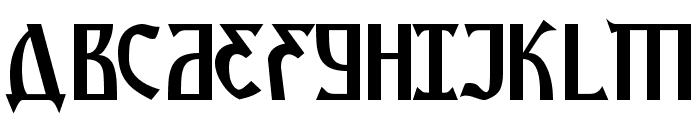 Kremlin Starets Font UPPERCASE