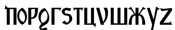 Kremlin Starets Font LOWERCASE