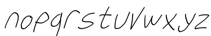 Krieg Font Oblique Font LOWERCASE