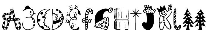 Kringley Christmas Font UPPERCASE