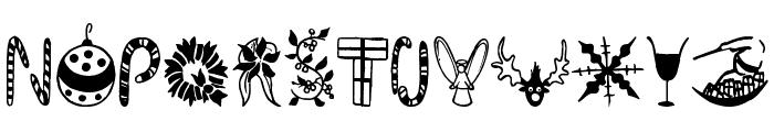 Kringley Christmas Font LOWERCASE