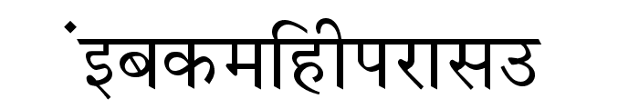 Krishna Normal Font LOWERCASE