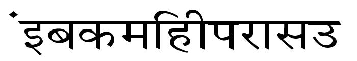 Krishna Wide Font LOWERCASE