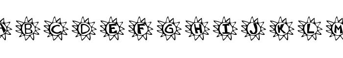 Krissun Font UPPERCASE