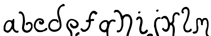 Kristen Curly Font LOWERCASE