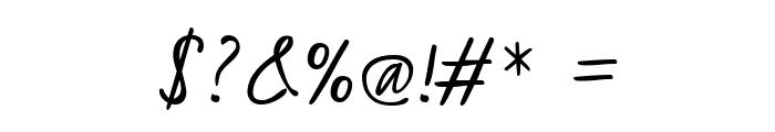 Kristi Medium Font OTHER CHARS