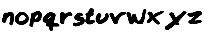 Krizzy Font LOWERCASE