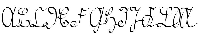 Kroeburn Regular Font UPPERCASE