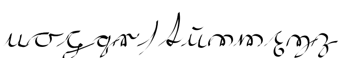 Kroeburn Regular Font LOWERCASE