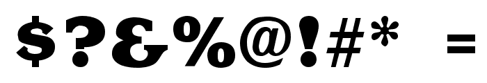 Krone ExtraBold Font OTHER CHARS