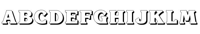 Krone Shadow Font UPPERCASE