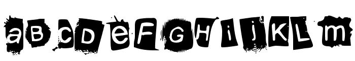 KrooKed Font UPPERCASE