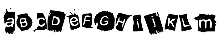 KrooKed Font LOWERCASE