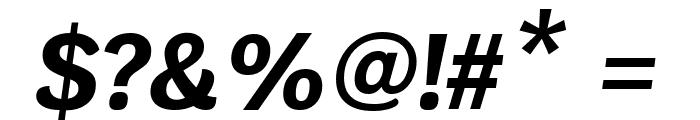 Krub Bold Italic Font OTHER CHARS
