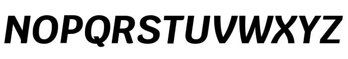 Krub Bold Italic Font UPPERCASE