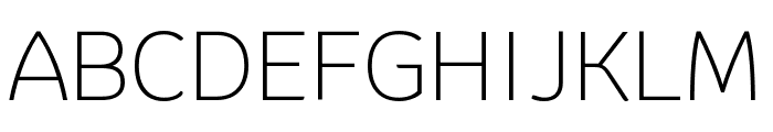 Krub ExtraLight Font UPPERCASE