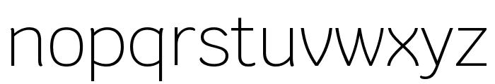 Krub ExtraLight Font LOWERCASE